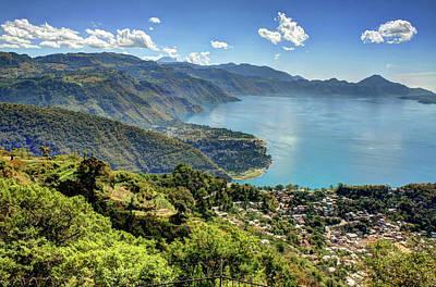 Lake Atitlan Poster by John Loreaux