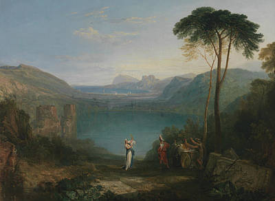 Lake Avernus  Aeneas And The Cumaean Sybil  Poster by Joseph Mallord William Turner