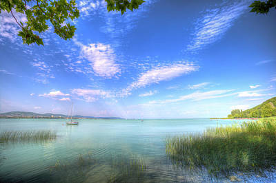 Lake Balaton Hungary Summer Poster