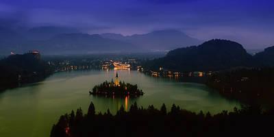 Lake Bled At Sunset Poster by Artem Sapegin