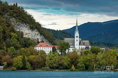 Lake Bled Church Poster by Brian Jannsen