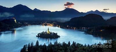 Lake Bled Dawn Poster by Brian Jannsen
