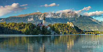 Lake Bled Evening Poster by Brian Jannsen