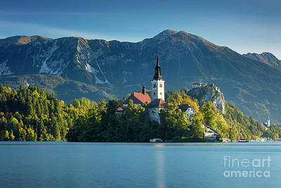 Lake Bled Morning Poster by Brian Jannsen