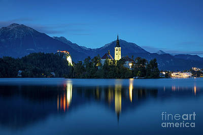 Lake Bled Twilight Poster by Brian Jannsen