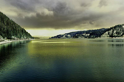 Poster featuring the photograph Lake Coeur D' Alene by Jeff Swan