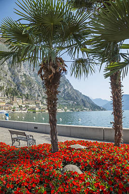 Lake Garda Gorgeous Riverside In Limone Sul Garda Poster by Melanie Viola