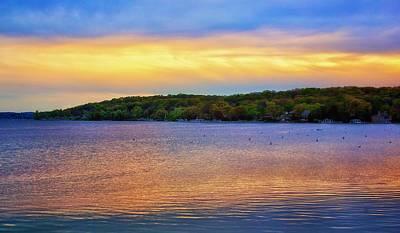 Lake Geneva Sunset Poster