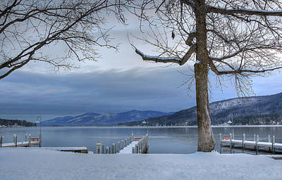 Lake George In The Winter Poster