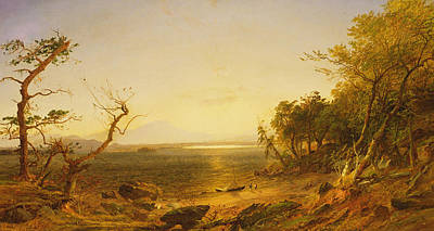 Lake George Poster by Jasper Francis Cropsey
