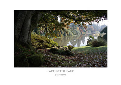 Poster featuring the digital art Lake In The Park by Julian Perry