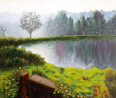 Lake In The Park Poster by Uma Krishnamoorthy