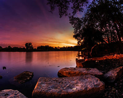 Poster featuring the photograph Lake Kirsty Twilight by Chris Bordeleau