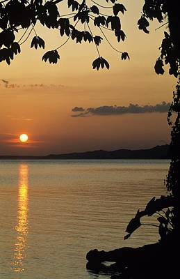 Lake Lago And Sunset Poster