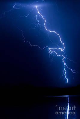 Lake Lightning Strike Poster