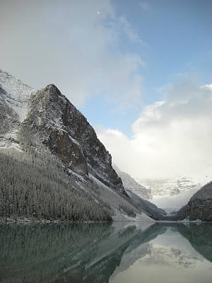 Lake Louise After First Snowfall  Poster