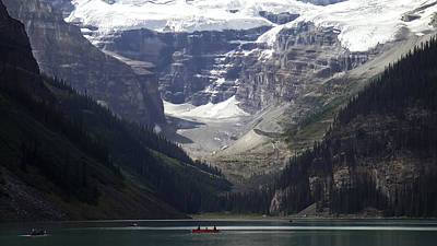 Lake Louise Canoeing -- Canada Poster by Daniel Hagerman