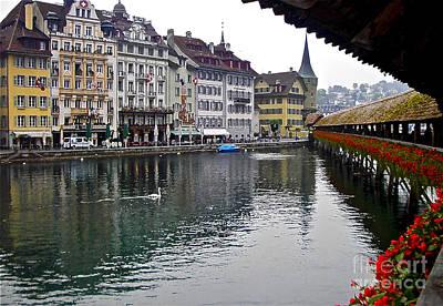 Lake Lucerne Poster by Heidi Peschel