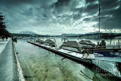 Lake Lucerne Jetty  Poster by Rob Hawkins