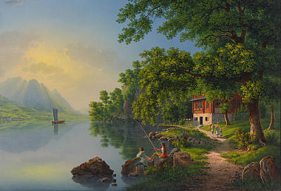 Lake Lucerne Switzerland  Poster by Movie Poster Prints