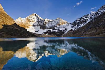 Lake Mcarthur And Mount Biddle Poster