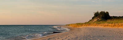 Lake Michigan Beach At Sunset Poster by Twenty Two North Photography
