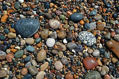 Poster featuring the photograph Lake Michigan Stone Collection by Michelle Calkins
