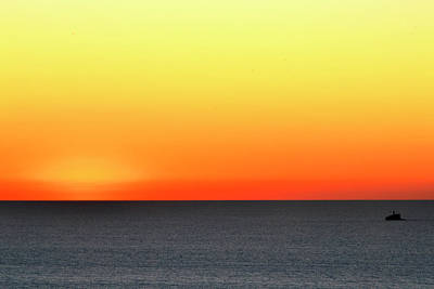 Poster featuring the photograph Lake Michigan Sunrise by Zawhaus Photography