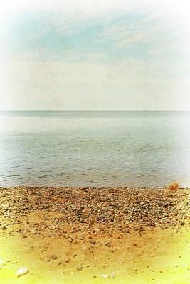 Lake Michigan With Stony Shore Poster