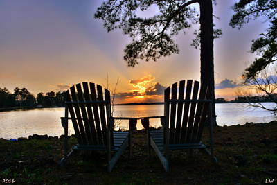 Poster featuring the photograph Lake Murray Relaxation by Lisa Wooten