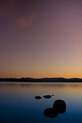 Poster featuring the photograph Lake Of Menteith By Sunset by Gabor Pozsgai