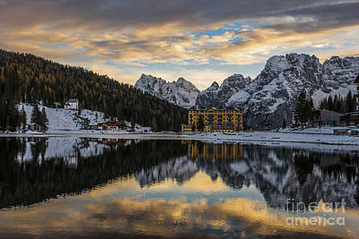 Poster featuring the photograph Lake Of Misurina by Yuri Santin