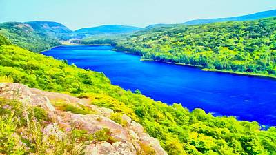 Lake Of The Clouds Panorama Poster by Dan Sproul