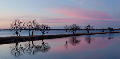 Lake Overholser Sunset Poster