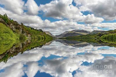 Lake Padarn Snowdonia Poster by Adrian Evans