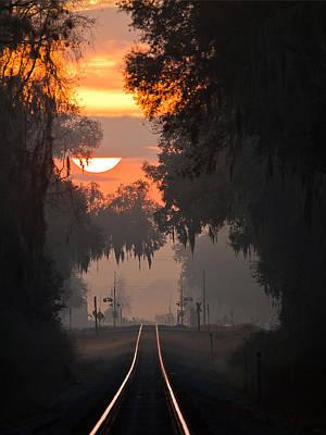 Lake Park Sunrise Poster by Dan Wells