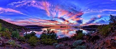 Lake Pleasant Sunset 4 Poster by ABeautifulSky Photography