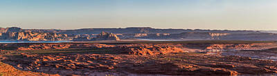 Lake Powell Sunrise Panorma Poster