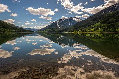 Lake Revelstoke Clouds Poster by Donna Caplinger
