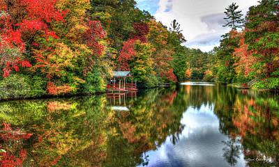Lake Sequoyah Reflection Of Beauty Highlands North Carolina Art Poster
