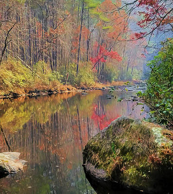 Poster featuring the painting Chattooga Paradise by Steven Richardson