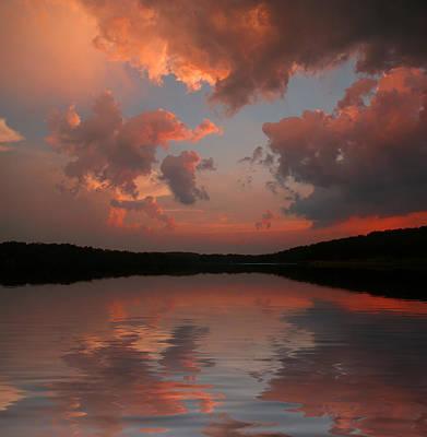 Lake Sunset Poster by Rick Friedle