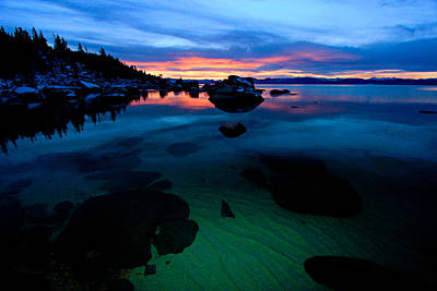 Lake Tahoe Clarity At Sundown Poster