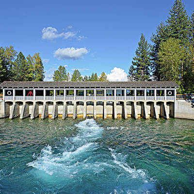 Poster featuring the photograph Lake Tahoe Dam by David Lawson