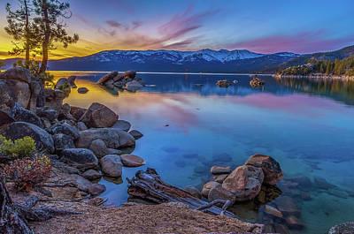 Lake Tahoe Spring Kaleidoscope  Poster