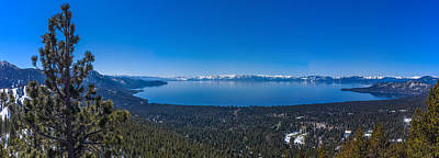 Lake Tahoe Spring Overlook Panoramic Poster