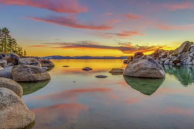 Lake Tahoe Spring Sunset Reflection Poster