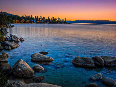 Lake Tahoe State Park Fall Sunset Poster by Scott McGuire