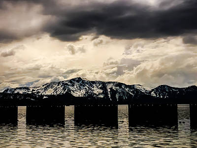 Lake Tahoe Stormy Dock #1 Poster by Heather Joyce Morrill