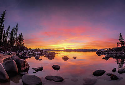 Lake Tahoe Sunset Peace Poster